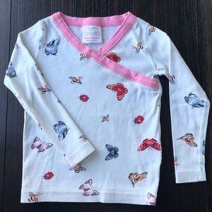 Hannah Andersson- TOP ONLY kimono Pj top 3T 90